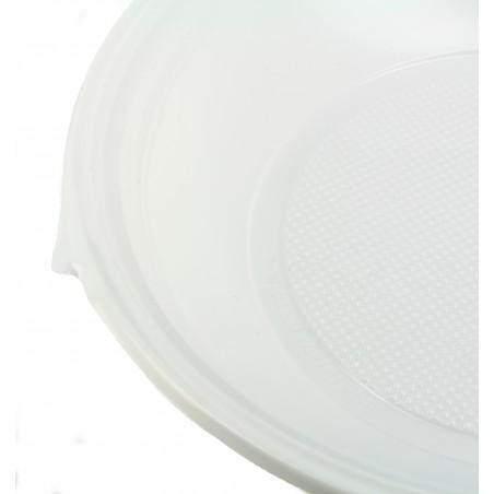 Plastikteller Tiefe weiß 220mm (1.400 Einh.)