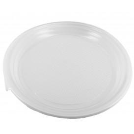 Plastikteller flach weiß 220mm (100 Stück)
