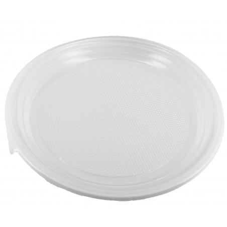 Plastikteller flach weiß 220mm (1.400 Einh.)