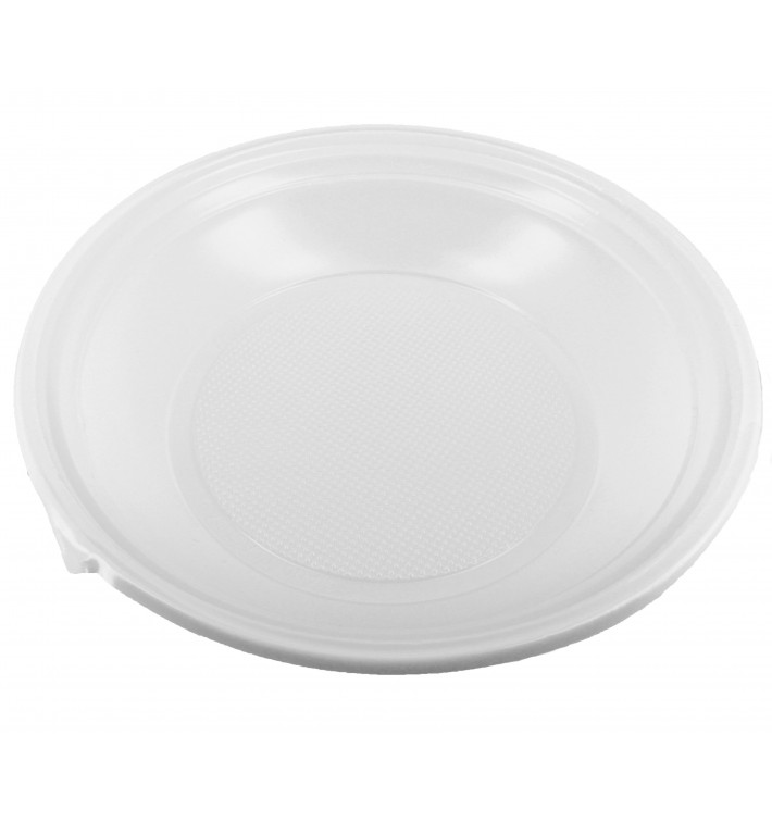 Plastikteller Tief weiß 220mm (1.400 Stück)