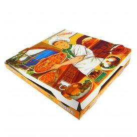 """Pizzakartons 33x33x3,5cm """"Vegetal"""" (100 Stück)"""