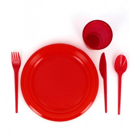 Plastiklöffel Rot 165mm (900 Einheiten)