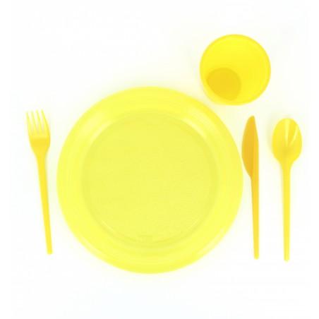 Plastiklöffel Gelb 165mm (15 Einheiten)