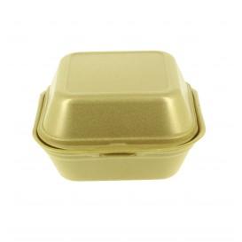 Kleine Burger-Box Styropor gold (500 Stück)