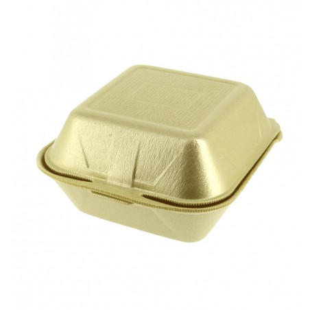 Burger-Box groß FOAM gold (500 Einh.)