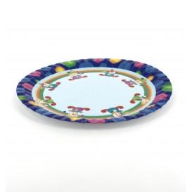 Pappteller Design Clown 18cm (12 Stück)