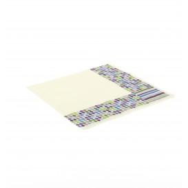 Papierservietten Design Striche und Punkte 33x33cm (500 Stück)
