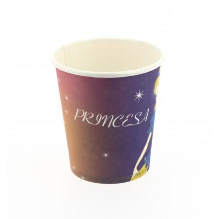 Kartonbecher Design Prinzessin 200ml (500 Einheiten)
