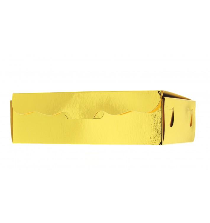 Box für Süßwaren gold 14x8x3,5cm (5 Stück)