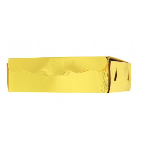 Box für Süßwaren und Konfekt gold 17x10x4,2cm (5 Einh.)