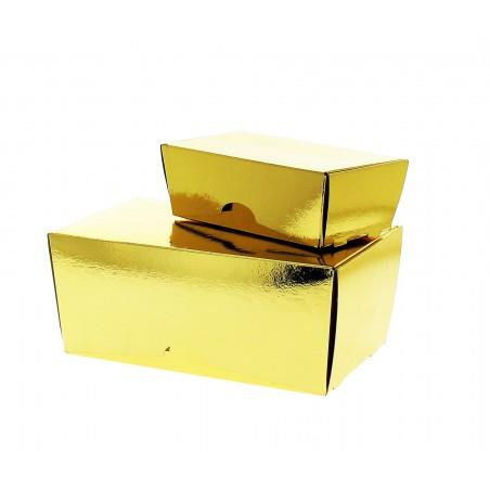 Box für Süßwaren und Konfekt gold 19x11x8,5cm (5 Einh.)