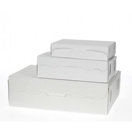 Box für Süßwaren und Konfekt weiß 20x13x5,5cm (5 Einh.)