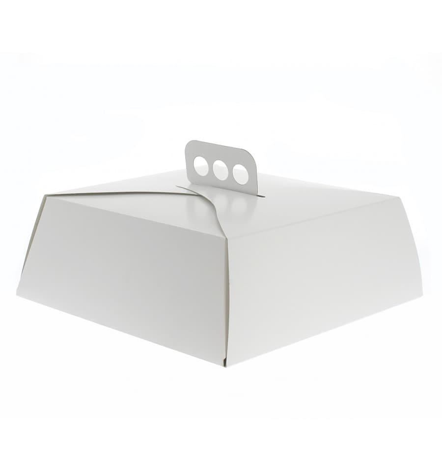 Tortenkarton quadratisch wei 24x24x10cm 50 st ck for Kuchenteile einzeln