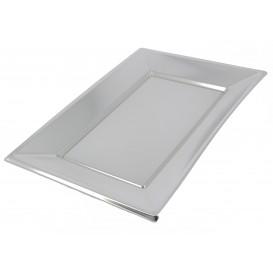 Plastiktablett Silber 330x225mm (60 Stück)