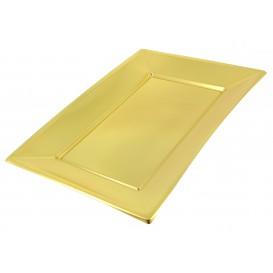 Plastiktablett Gold 330x225mm (120 Stück)