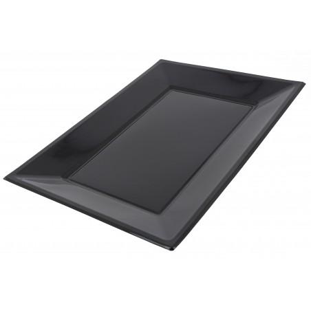 Plastiktablett schwarz 330x225mm (3 Einh.)
