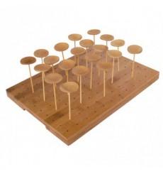 Tray aus Bambu für SpießeBambus 25x30x1,3cm (1 Einh.)