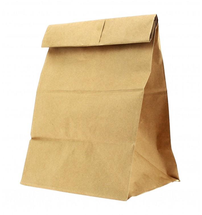 Papiertüten ohne Griff Kraft braun 25+15x43cm (25 Stück)