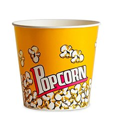 Popcorn box 1380ml 12,4x9x17cm (500 Einh.)