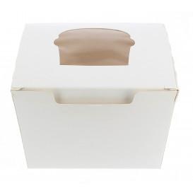 Cupcake Box für 1 Cupcake 11x10x7,5cm weiß (20 Stück)