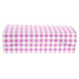 Gebäck Box pink 18,2x13,6x5,2cm (25 Stück)