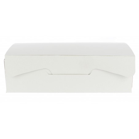 Gebäck-karton weiß 18,2x13,6x5,2cm (5 Einh.)