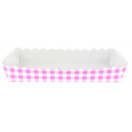 Pappschale pink geschlossen für Waffeln (25 Stück)