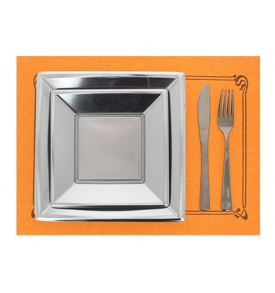 tischsets papier 30x40cm orange orla 40g st ck. Black Bedroom Furniture Sets. Home Design Ideas