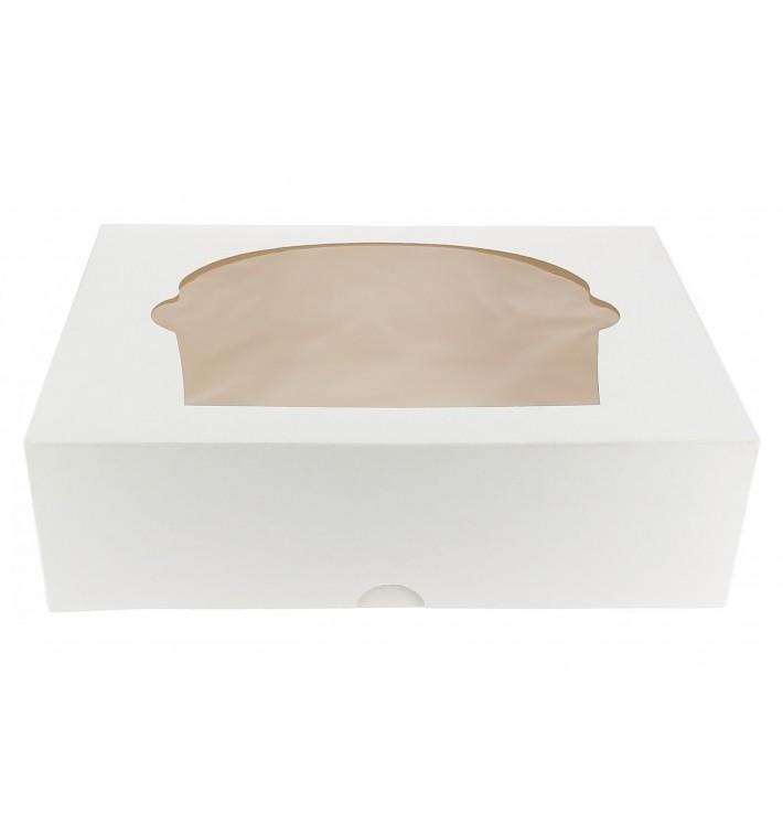Cupcake Box für 6 Cupcakes 24,3x16,5x7,5cm weiß (100 Stück)