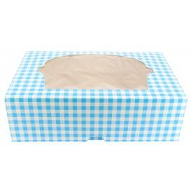 Cupcake Box für 6 Cupcakes 24,3x16,5x7,5cm blau (20 Stück)