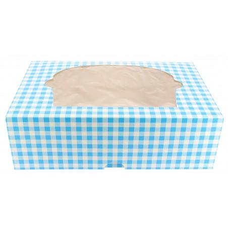 Cupcake Box für 6-Cupcake 24,3x16,5x7,5cm blau (100 Einh.)