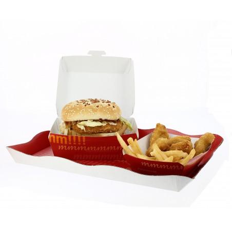 Hamburger box-Pappe 14x13x7cm (450 Einheiten)