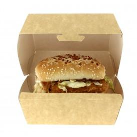 Hamburger Box Kraft XXL 15,5x15,5x8cm (400 Stück)