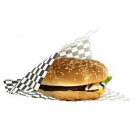 Burgerpapier fettdicht offen Schwarz 17x18cm (500 Stück)