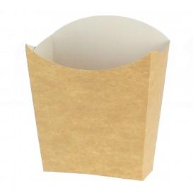 Kleine Pommesschütte Faltbox Kraft (25 Stück)