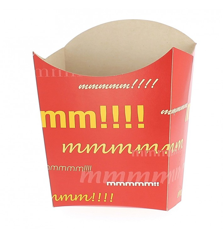 Kleine Pommesschütte Faltbox 8,2x2,2x9cm (600 Stück)