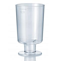 Plastik Gläser mit fuß 100ml (15 Einheiten)