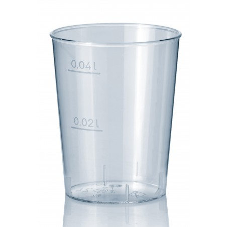 Vaso Inyectado  Transparente PS 40 ml  (Paquete 50 unidades)