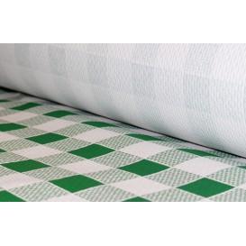 Rolle Papiertischdecke Kariert grün 1x100m 40g (1 Stück)