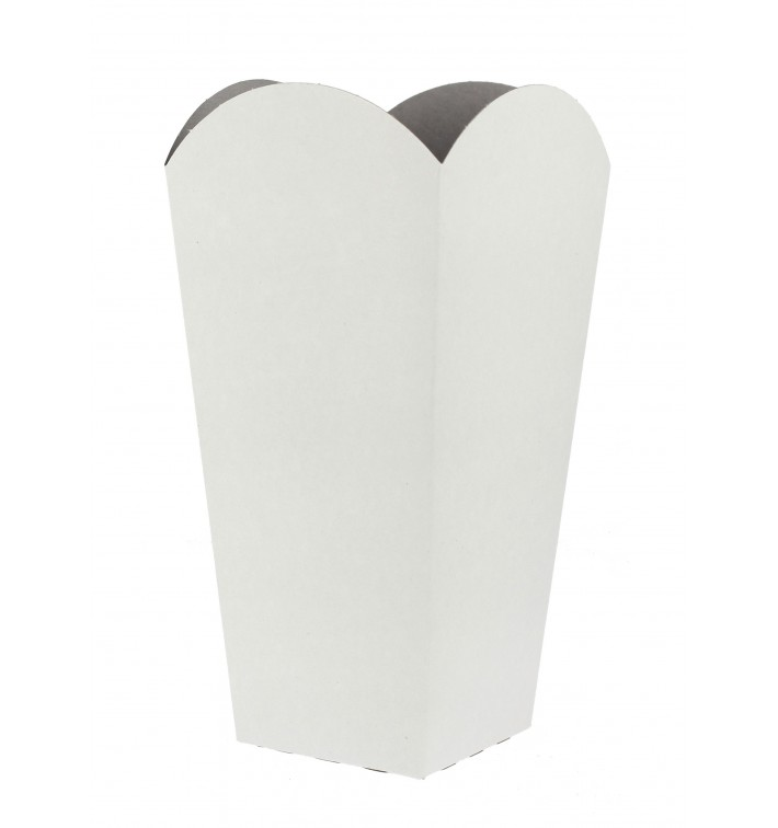 Kleine Popcorn Box weiß 45gr. 6,5x8,5x15cm (700 Stück)