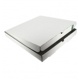 Pizzakartons 30x30x3,5cm weiß (100 Stück)