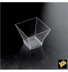 Plastikschüssel Verkostung Pagoda Transparent 62x62 mm (500 Einh.)