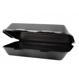 Verpackung LunchBox Styropor Schwarz 240x155x70mm (125 Stück)