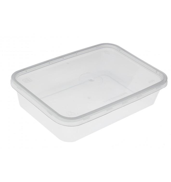 Plastikdose rechteckig PP 500ml (50 Stück)