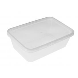 Plastikdose rechteckig PP 750ml (50 Stück)