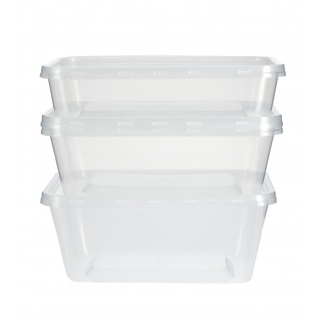 Plastikdose rechteckig PP 500ml (500 Einh.)