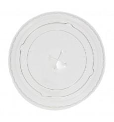 Deckel mit Kreuz Flach für Plastikbecher PP 300ml Ø7,4cm (125 Einh.)
