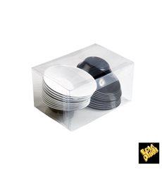"Plastikschüssel ""Sodo"" Schwarz - Weiß 50 ml (240 Stück)"