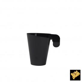 Plastiktasse Design Schwarz 72ml (12 Stück)