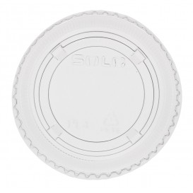 Deckel ohne Loch Flach für Plastikbecher PP 300ml Ø7,4cm (125 Stück)